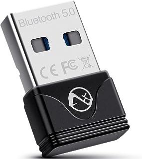 Bluetooth Adapter for PC, ZEXMTE Mini Bluetooth 5.0 USB Dongle Computer Bluetooth Adapter for Computer Bluetooth Headphone...