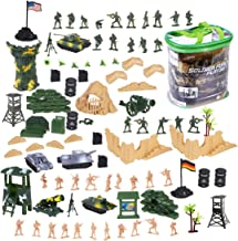 deAO Military Action Figures Playset Army Force Defence Unit Soldiers, Vehicles and Accessories (100 Pieces Set)