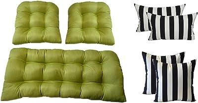 Amazon.com: Cojines y almohadas de mimbre 7 pc juego ...