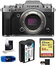 Fujifilm X-T4 Mirrorless Digital Camera Body (Silver) Bundle, Includes: SanDisk 64GB Extreme SDXC Memory Card, Spare Batte...