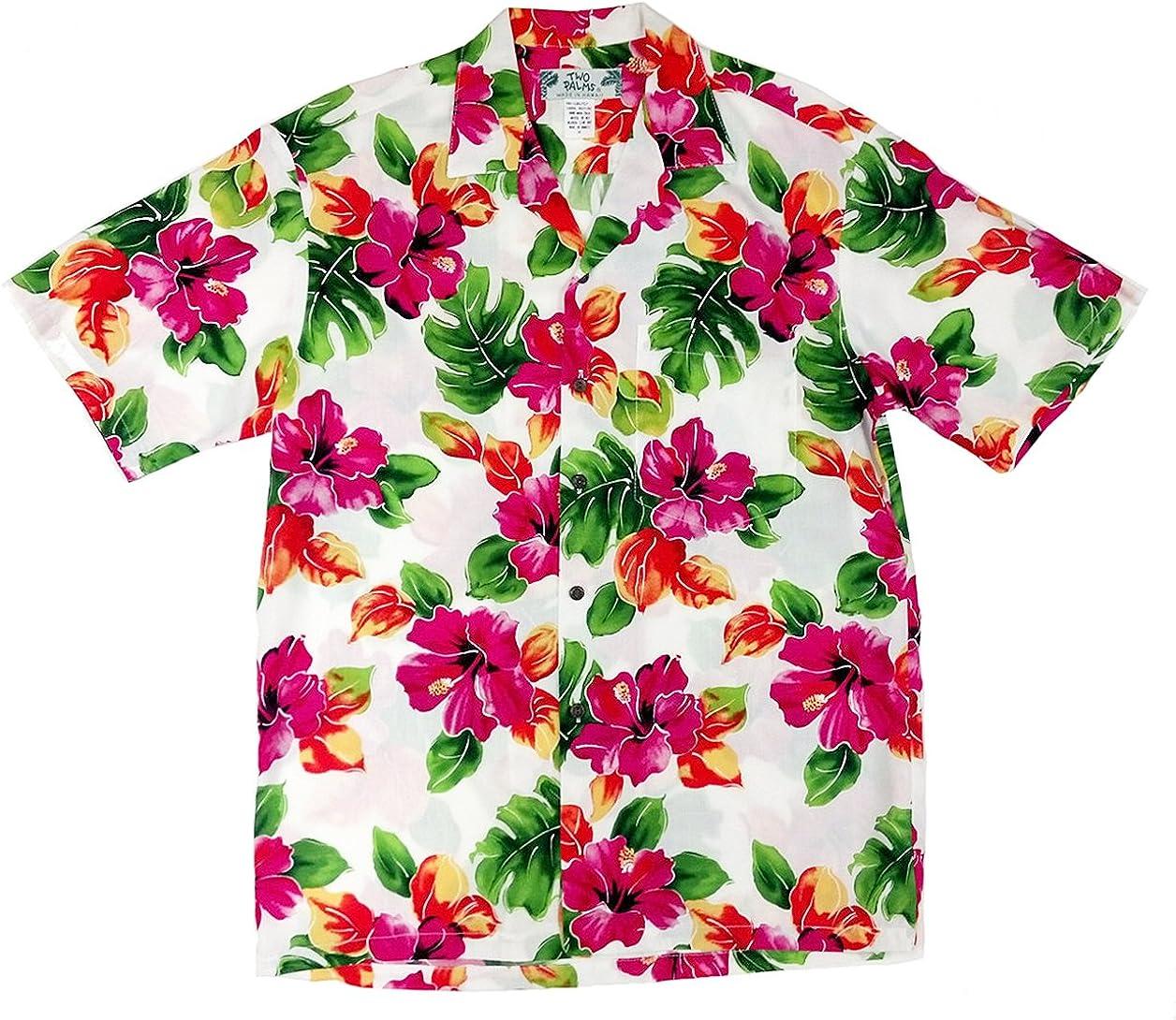 Two Palms Men's Hibiscus Shirt