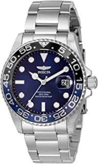 Invicta Women's Pro Diver Quartz Watch with Stainless Steel Strap, Silver, 20 (Model: 33259)