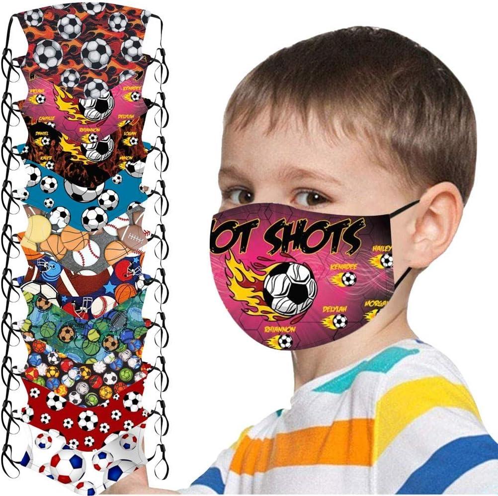 SUGUJU 10pcs Kids Reusable Face Masks Washable Cute C Breathable New Orleans Kansas City Mall Mall