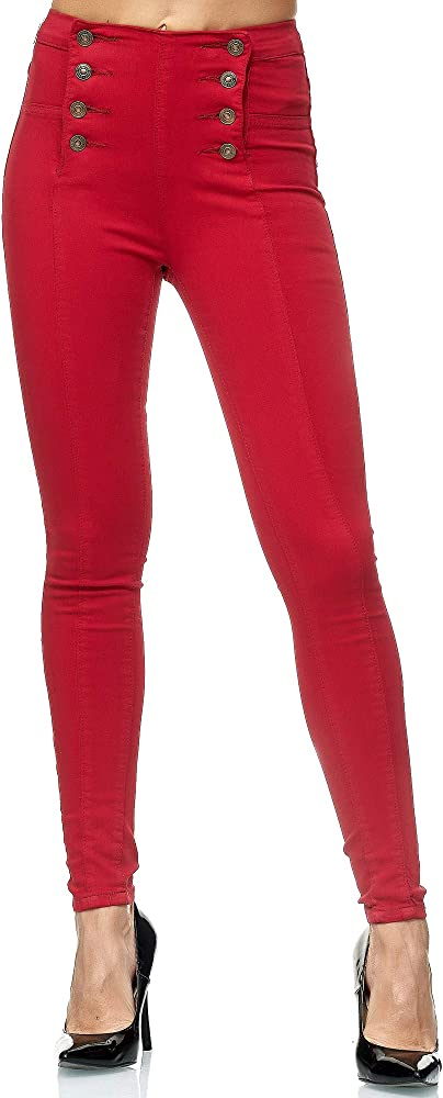 Elara, jeans da donna skinny fit vita alta,in 98% cotone, 2% elastan Chunkyrayan