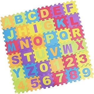 Baosity 36pcs Alphabet/Number Play MAT Toddlers Children Soft Foam Jigsaw Puzzle