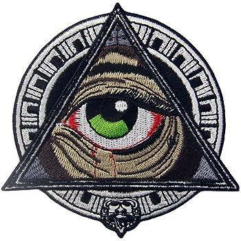 Parche termoadhesivo para la ropa, diseño de Patrones geométricos mayas Todos viendo el ojo sangriento: Amazon.es: Hogar