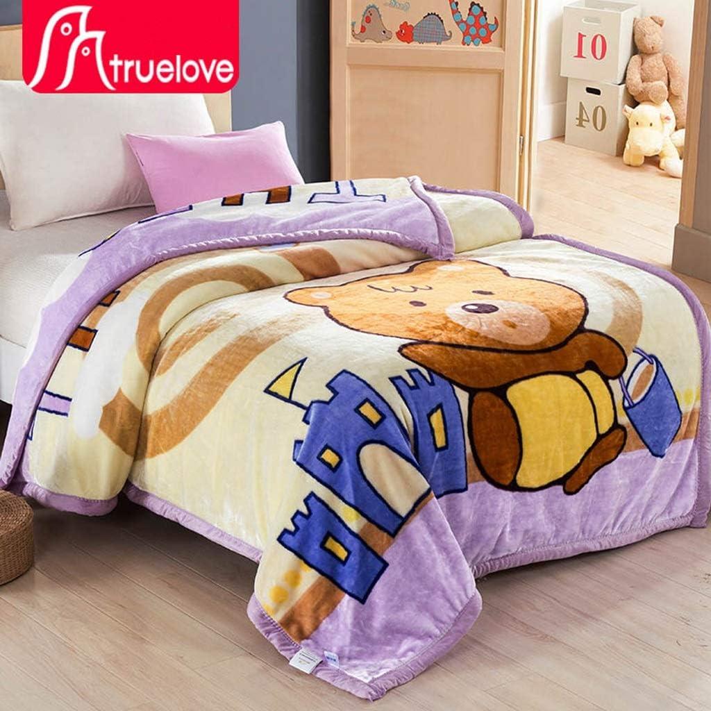 LYQZ Doux Couvertures Simples Couvertures pour Enfants Couvertures d'hiver Couvertures pour couvertures dortoir pour étudiants (Color : Purple) Purple