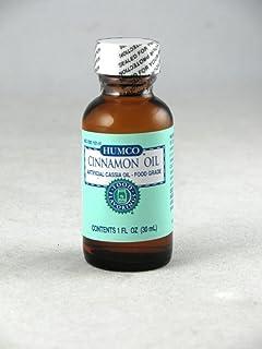 Humco Cinnamon Oil Artificial Cassia Oil Food Grade, 1 fl oz. Pack of 2