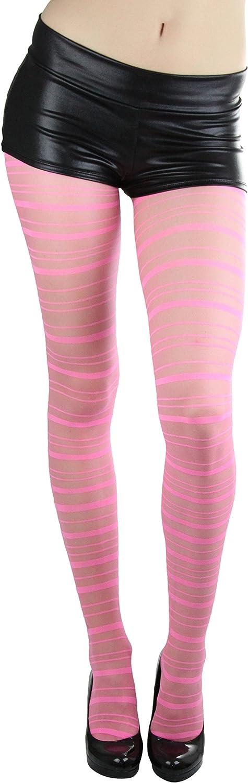ToBeInStyle Women's Sheer Horizontal Striped Pantyhose