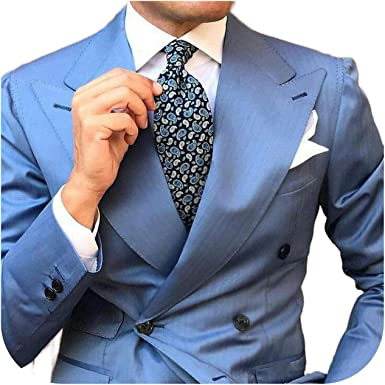 Outwear Wide Peaked Designs Azul Hombre Trajes Hombre ...