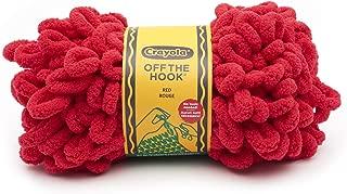 Lion Brand Yarn 3004-113 Crayola Off The Hook Yarn, Red (1 skein/ball)