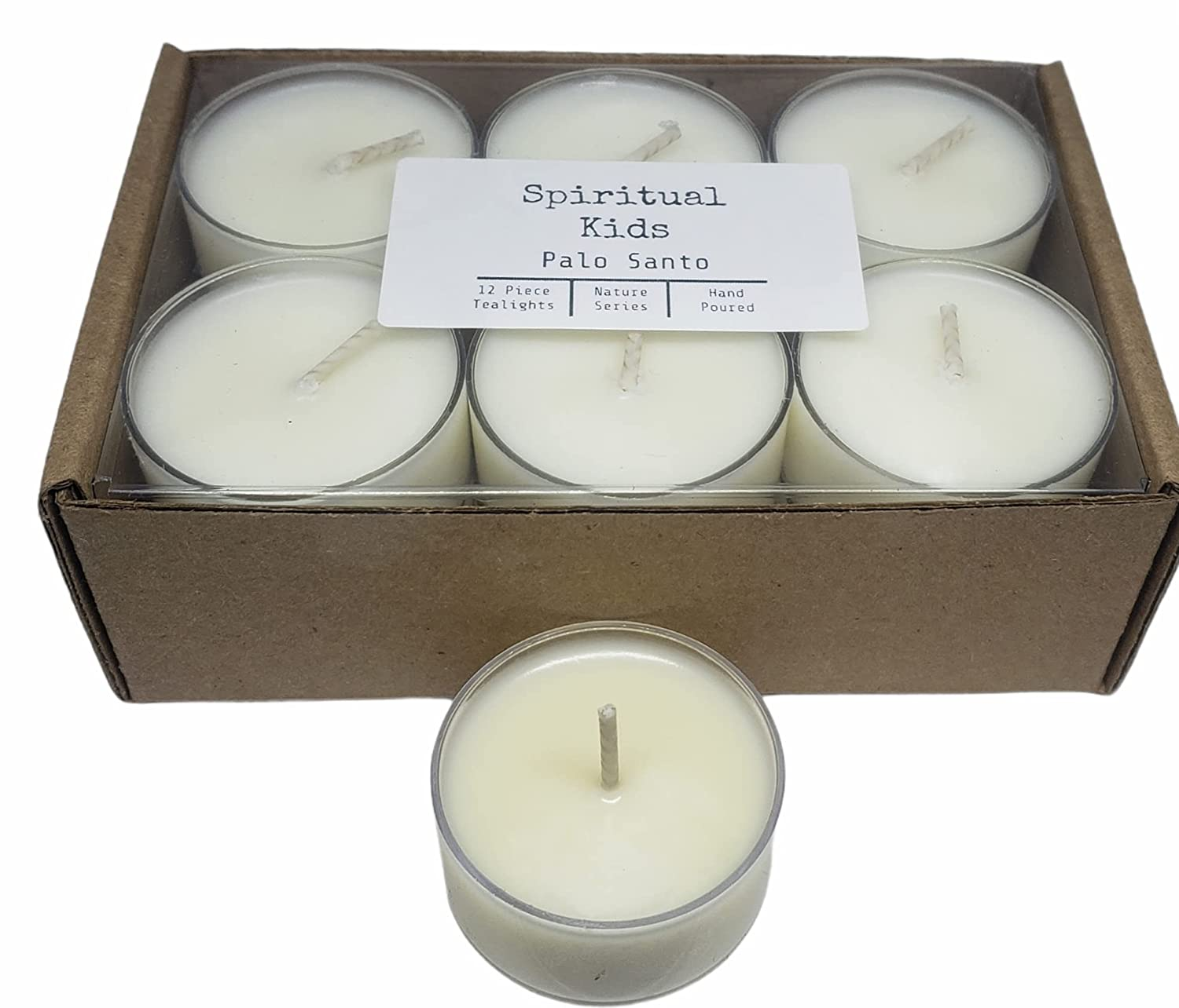 Palo Import Santo Natural Soy Wax Tealights Hand 12ct New mail order Poured Essen with