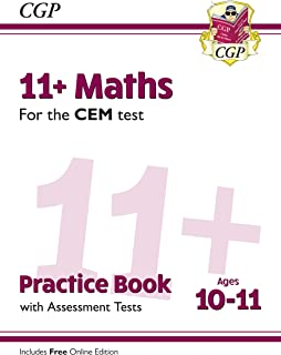 New 11+ CEM Maths Practice Book & Assessment Tests - Ages 10-11 (with Online Edition) (CGP 11+ CEM)