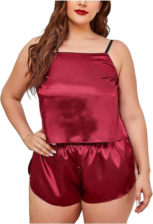 VonVonCo Sexy Lingerie for Women Large Size Fat Lady Two Piece Satin Lace Underwear Comfortable Bodysuit Lingerie