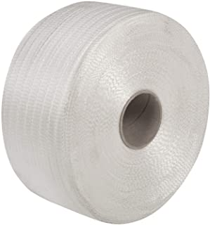 IDL Packaging 3/4 x 2100' Woven Cord Strapping Roll, 6 x 3 Core, 900 lbs Break Strength, White (Pack of 1)