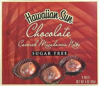 Hawaiian Sun SUGAR-FREE Chocolate Covered Macadamia Nuts 4 Oz