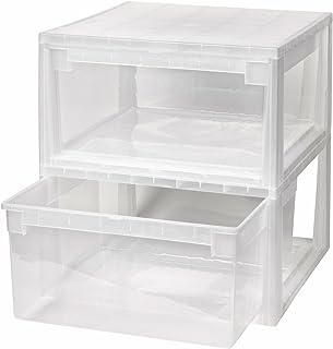 2 Stück Schubladenboxen mit Nutzvolumen 23 Liter pro Box. Passend für z.B. Shirts, Hemden, Wäsche, Papier, etc. Maße pro Box: 39,6 x 39 x 21,3 cm