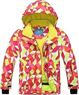 PHIBEE Big Girls' Outdoor Sportswear Waterproof Fleece Snowboard Ski Jacket