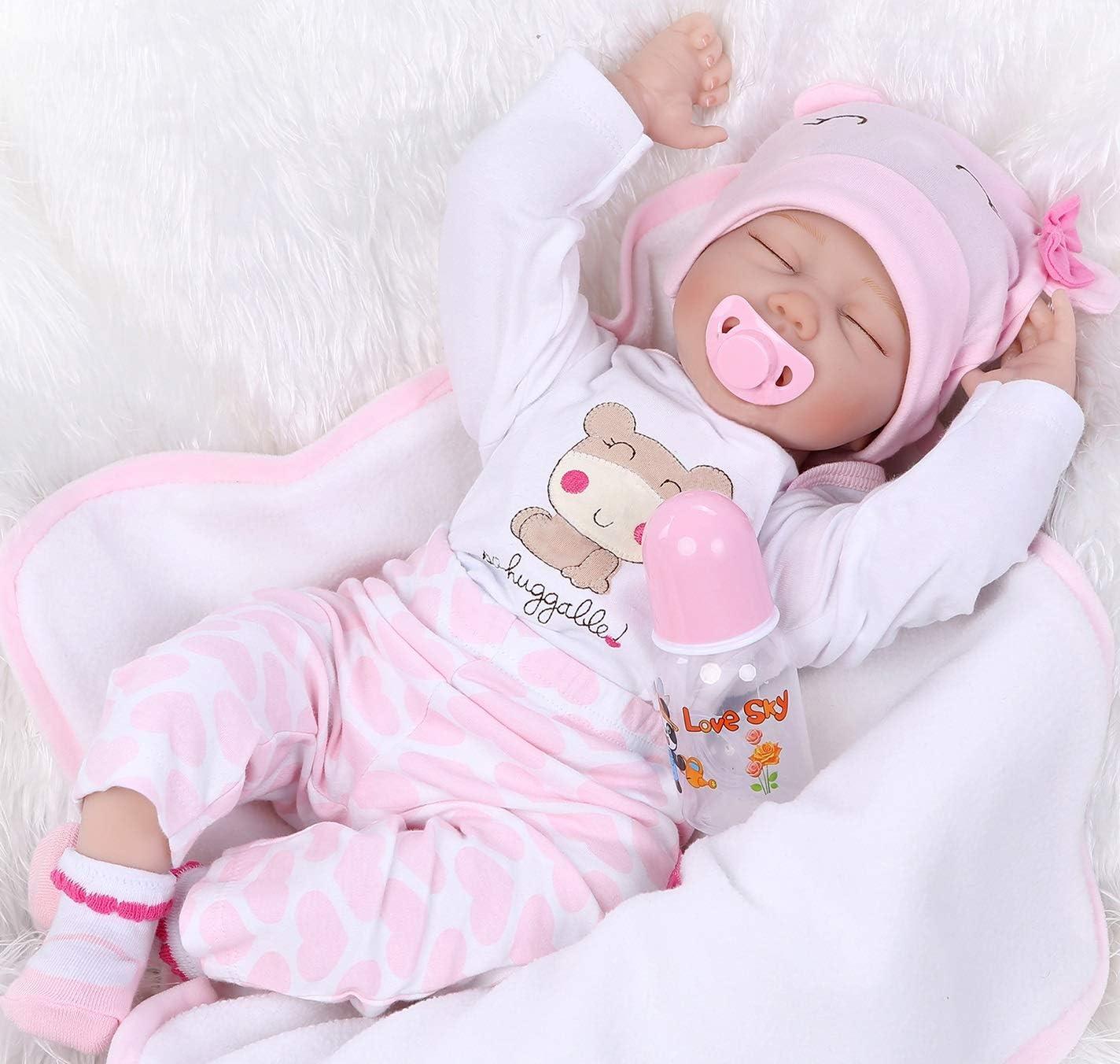 Reborn Award Baby Doll Soft Simulation Silicone 55cm Vinyl Popular overseas Lo I 22inch
