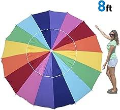 easygo 8 foot heavy-duty high wind beach umbrella
