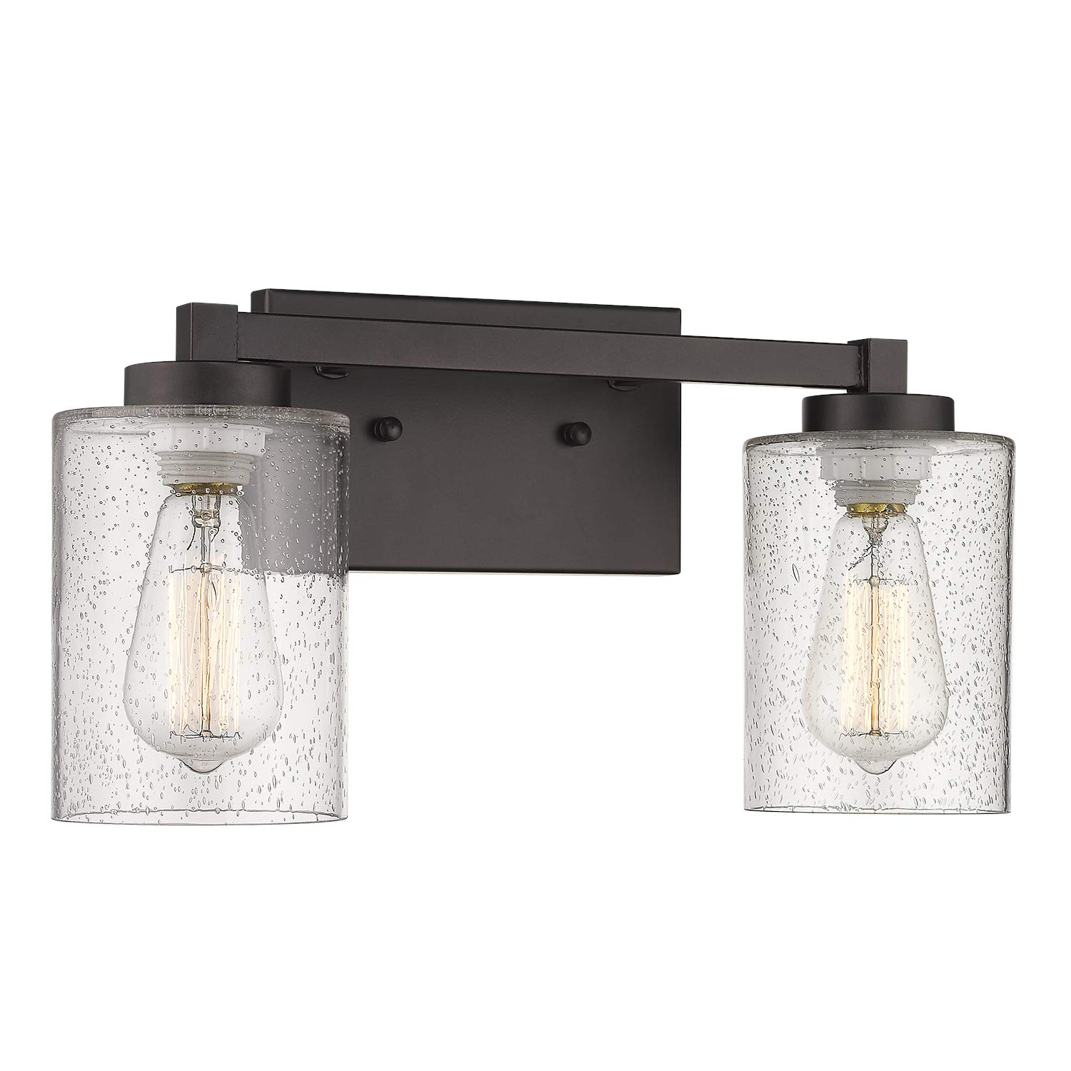 Beionxii 2 Light Bathroom Vanity Lights Vintage Wall Sconce Oil Rubbed Bronze With Clear Seeded Glass 16 1 W X 8 7 H Mb9002 Series Buy Online In Cayman Islands At Cayman Desertcart Com Productid