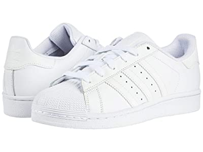 adidas Originals Kids Superstar Foundation (Big Kid) (White/White/White) Kids Shoes
