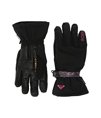 Roxy GORE-TEX(r) Crystal Snow Gloves (True Black) Ski Gloves