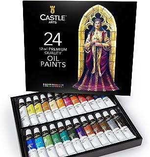 Scatola di colori a olio Castle Art Supplies per artisti o principianti - 24 colori a olio intensi - Confezione per pittur...