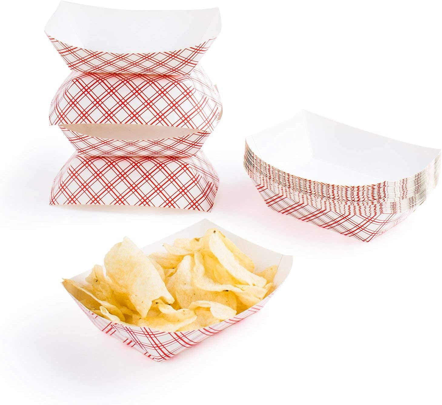 2 Lb. Disposable Paper Food Tray 50 ct. by JDRD