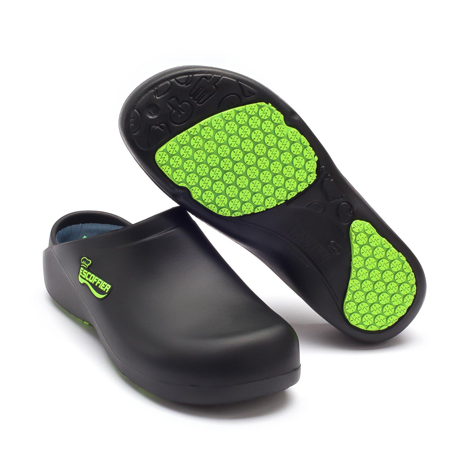 ESCOFFIER 防水防滑厨房厨师洞洞鞋 - 男女通用防滑工作泥鞋