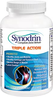 Synodrin Triple Action Complete Joint Arthritis Pain Relief Supplement - 90 Count Includes Immunodrin, Glucosamine, Turmer...