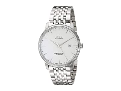 Mido Baroncelli Cosc Chronometer with Stainless Steel Bracelet M0274081103100 (White) Watches