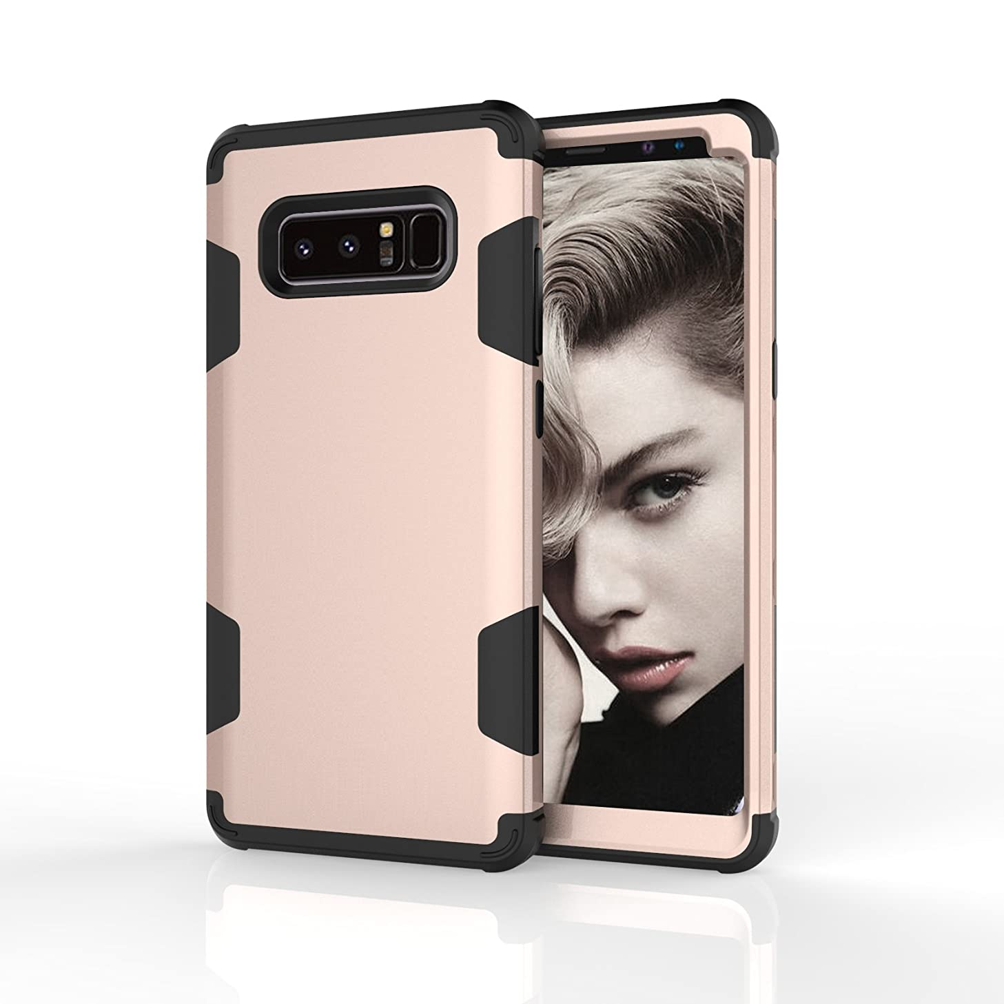 Galaxy Note 8 Case, UZER Slim Fit 3 in 1 Hybrid Hard PC & Soft Silicone Rugged Bumper High Impact Resistant Shock-Absorption Anti Slip Full-Body Protective Case for Samsung Galaxy Note 8 2017 Model