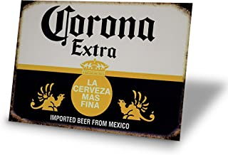 Tin Signs Corona Extra Beer Man Cave Decor Metal Sign Alcohol Home Party Bar Retro Vintage Signs 8x12 Inch