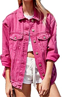Candy Color Button Denim Jacket