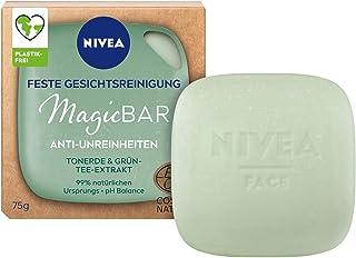 NIVEA MagicBar vaste gezichtsreiniging, Anti-onzuiverheden (75 g), gezichtsreiniger reinigt en matteert de huid, gecertifi...