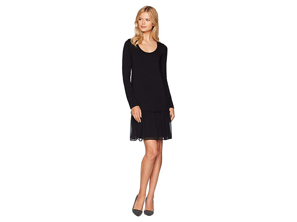 Karen Kane Flounce Ruffle Hem Dress (Black) Women