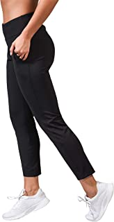 90 Degree By Reflex High Waist Slim Stretch Yoga Jogger - Tapered Lounge Trouser Pants with Side Pockets