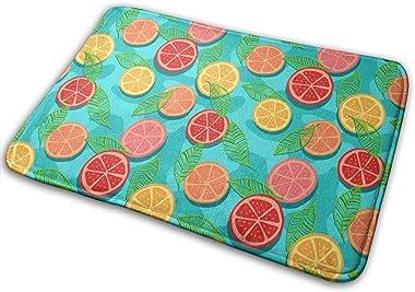 Citrus Tomatoes Carpet Non-Slip Welcome Front Doormat Entryway Carpet Washable Outdoor Indoor Mat Room Rug 15.7 X 23.6 inch