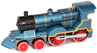 Master Toys & Novelties Blue Cast Metal Classic Train Toy with Sounds and Lights