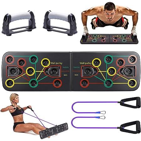 SPGOOD Push-up-Brett Upgrade 13 in 1 Tragbare Push Up St/änder Heim Fitness Training f/ür M/änner//Frauen einzirartige Farbcode f/ür professionell Muskelaufbau