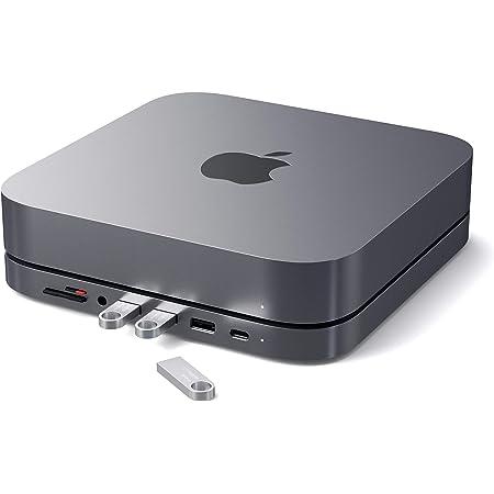 Satechi Type-C アルミニウム スタンド & ハブ (スペースグレイ) USB-C データポート, Micro/SDカードリーダー, USB 3.0 & ヘッドホンジャックポート (Mac Mini 2018以降対応)