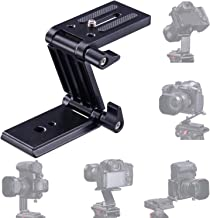 Universal Flex Tilt Head Z Mount Bracket Arca-Swiss Tripod Head Quick Release Plate Mounting for Monopod Slider Rail Cage Rig Stabilizer Gimbal Compatible with DSLR Camera Canon Nikon Sony Panasonic