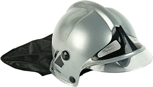 Klein - 8924 - Jeu d'imitation - Casque de pompier F1 gris avec visière fixe et protège-nuque