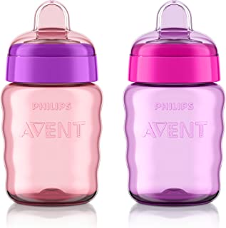 Philips Avent My Easy Sippy Cup, 9 Ounce, Pink/Purple,...