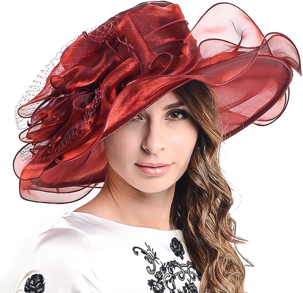 Fascinators Kentucky Derby Church Dress Large Floral Party Hat