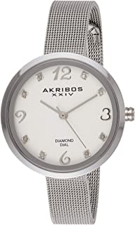 Akribos XXIV Women's Stainless Steel Band Watch