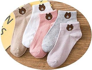 Calcetines Mujer Divertidos, Osito Algodón Tobillero Calcetin Corto Cortos Calcetines Tobilleros Para Niñas Mujer