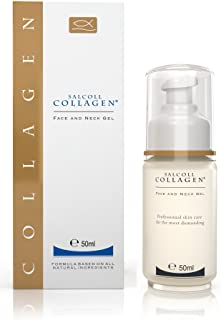 SALCOLL COLLAGEN Anti-Aging Face & Neck Gel - Marine Collagen Moisturizer, Reduces Wrinkles, Fine Lines, Acne Scarring, Repairs Damaged Facial Skin - 50 ml