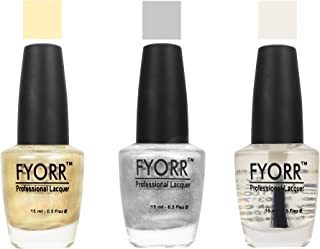 FYORR Lets Party Collection Long Lasting Nail Paint - Set of 3 (15 Ml Each)